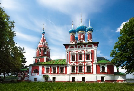 Temple of Tsarevich Dmitry on the Blood of Uglich city, day lighting, positive key